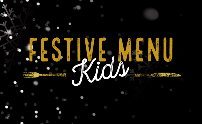Festive Kids Menu at The Green Man